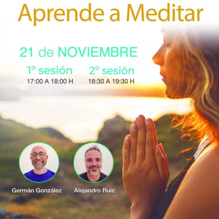 Cartel Taller Aprende a meditar